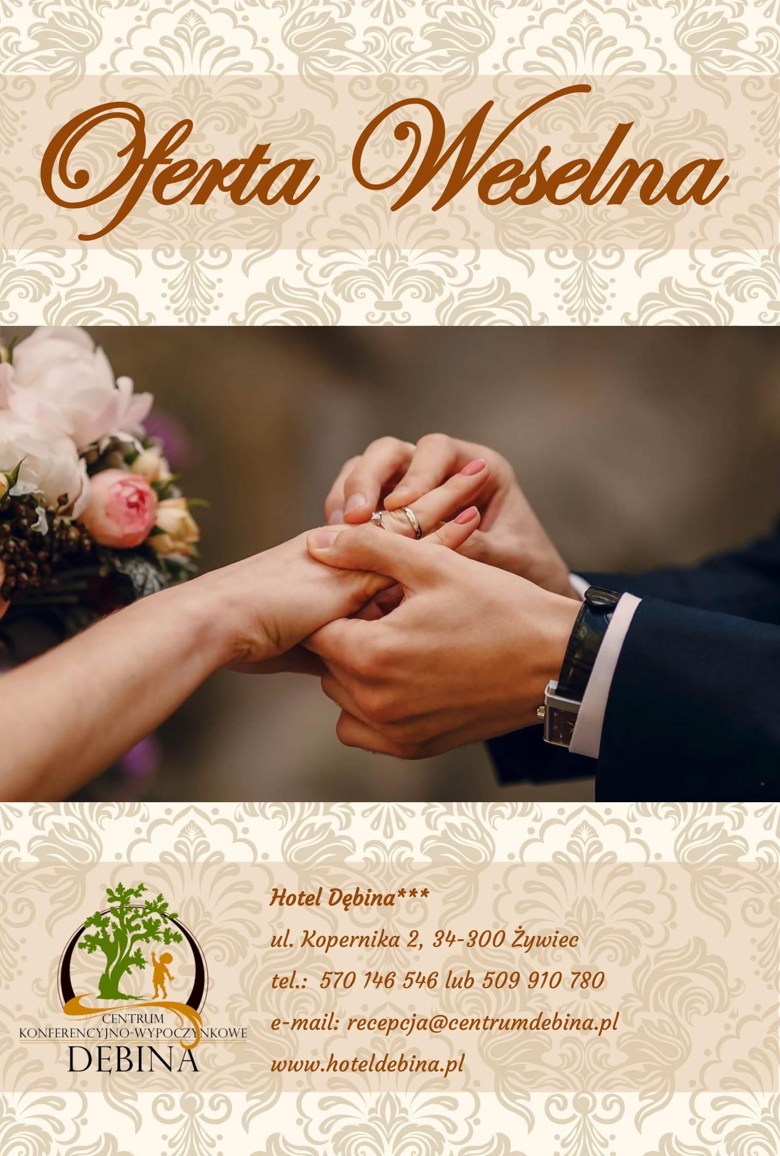 Oferta weselna – zorganizuj swoje wesele wHotelu Dębina